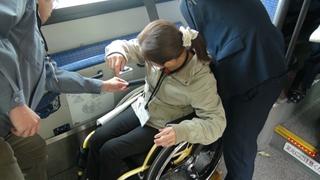 実際にバスに乗る