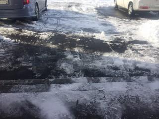 雪が積もっている