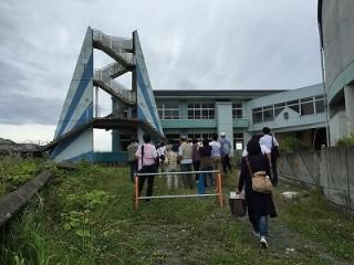 津波がきた学校