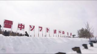 雪中ソフトボール 看板